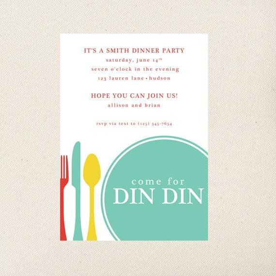 Dinner Party Invitation Templates Dinner Party Invitation