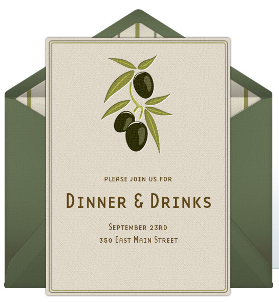 Dinner Party Invitation Templates Dinner Party Invitations