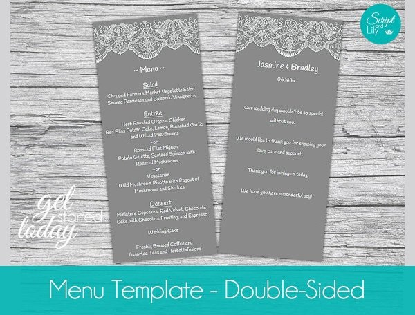 Dinner Party Menu Template 25 Dinner Party Menus Psd Ai Word