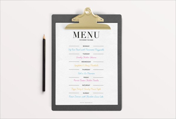 Dinner Party Menu Template 33 Party Menu Templates