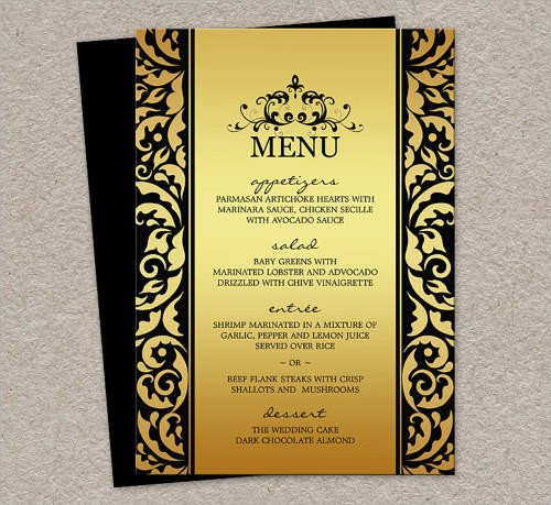 Dinner Party Menu Template 34 Menu Templates Ai Psd Docs Pages