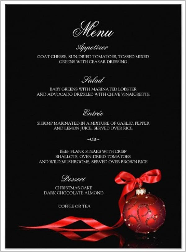 Dinner Party Menu Template 8 Dinner Party Menu Templates Psd Ai