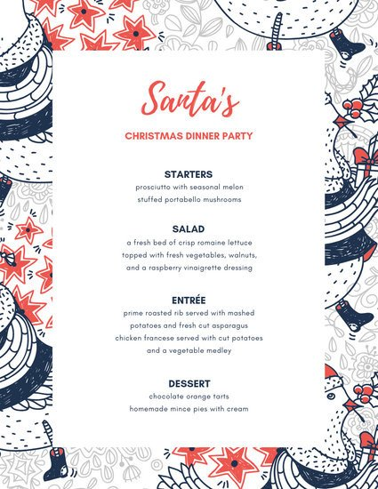 Dinner Party Menu Template Customize 197 Dinner Party Menu Templates Online Canva