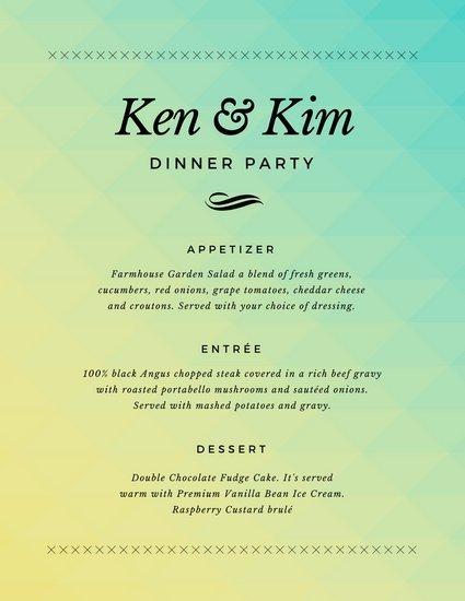 Dinner Party Menu Template Customize 404 Dinner Party Menu Templates Online Canva