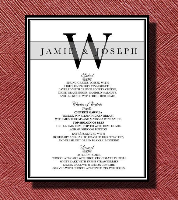 Dinner Party Menu Template Dinner Menu Templates 35 Free Word Pdf Psd Eps