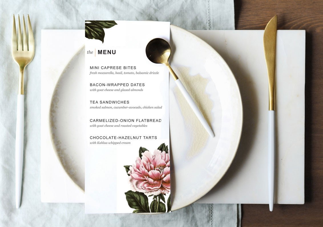 Dinner Party Menu Template Printable Dinner Party Menu Template Design Create