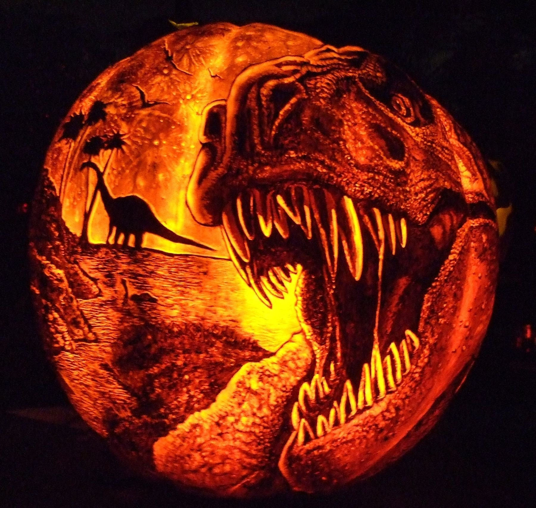 Dinosaur Pumpkin Carving Pattern Dinosaur Pumpkin Carvings Google Search