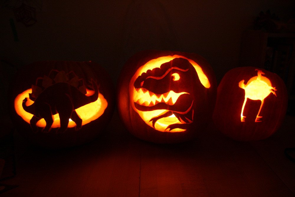 Dinosaur Pumpkin Carving Pattern Holly S Red Bike Halloween Recap