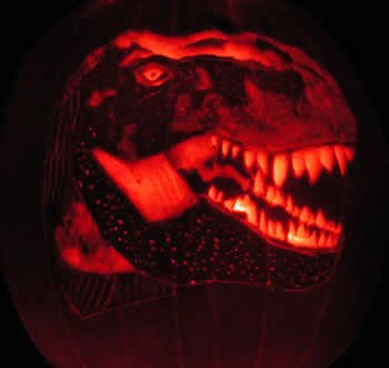 Dinosaur Pumpkin Carving Pattern Pumpkin Designs