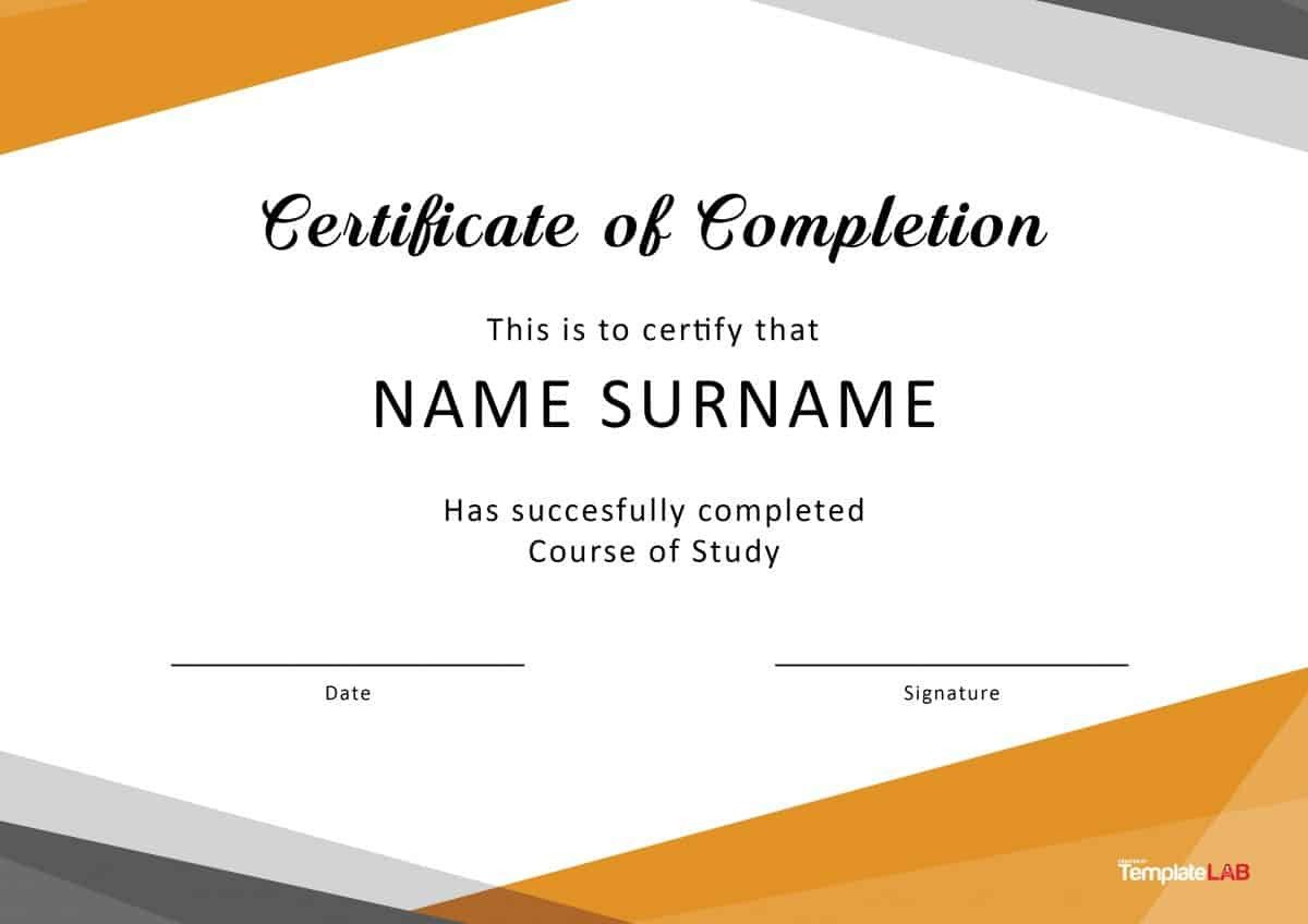 Diploma Template Free Download 40 Fantastic Certificate Of Pletion Templates [word