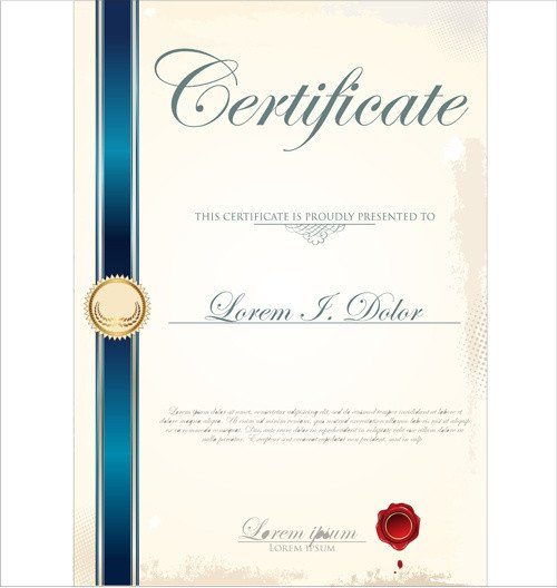 Diploma Template Free Download Certificate Template Adobe Illustrator Free Vector