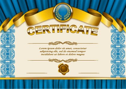 Diploma Template Free Download Diploma Certificate Template Free Vector 13 008