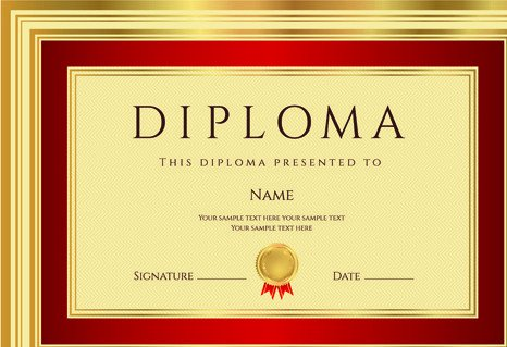 Diploma Template Free Download Diploma Template Free Vector 12 682 Free Vector