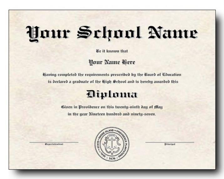 Diploma Template Free Download High School Diploma Template Printable Certificate