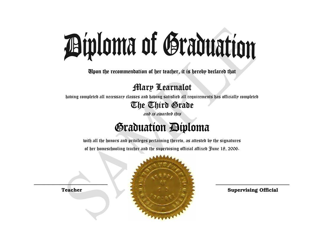 Diploma Template Free Download Homeschooling Diplomas Quick Easy Template for Home