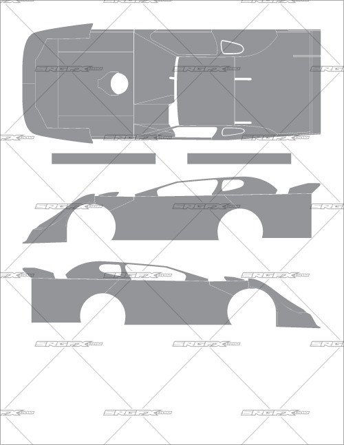 Dirt Late Model Body Template Late Model Body Panels Z Z 2019