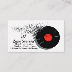 Disc Jockey Business Card Disc Jockey Business Cards