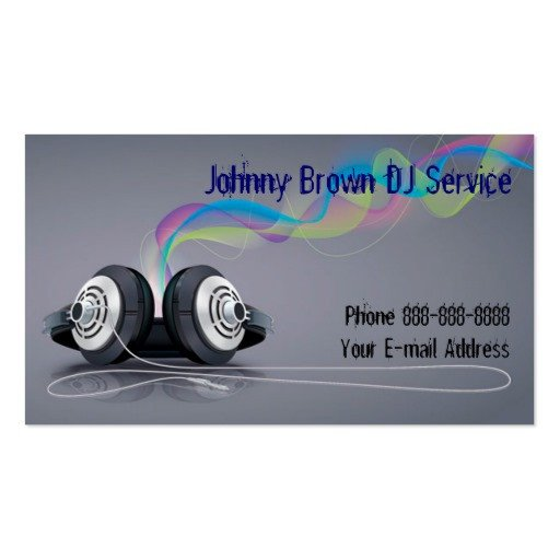 Disc Jockey Business Card Dj Disc Jockey Business Card