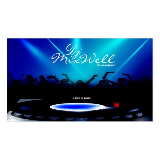 Disc Jockey Business Card Dj Disc Jockey Club Party Business Card
