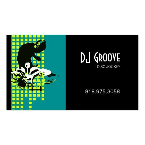Disc Jockey Business Card Vinyl Record Business Cards 312 Vinyl Record Business