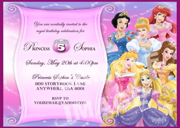 Disney Princess Invitation Template 11 Disney Invitation Designs & Templates Psd Ai