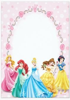 Disney Princess Invitation Template Free Printable Disney Princess Ticket Invitation