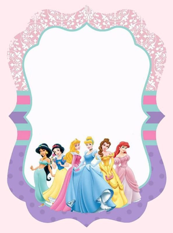 Disney Princess Invitation Template Free Templates for Princess Party Invitation Cards