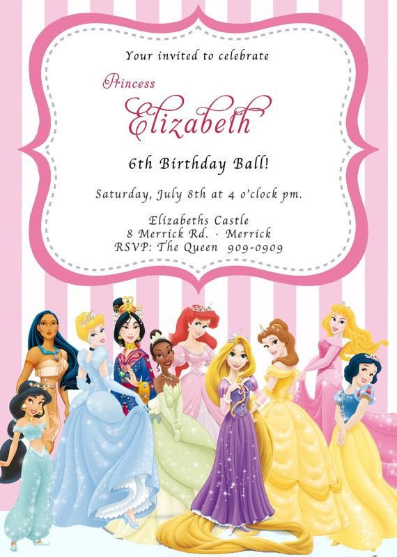 Disney Princess Invitation Template Pin by Amber Dodge Cromwell On Lucy S 4th Birthday