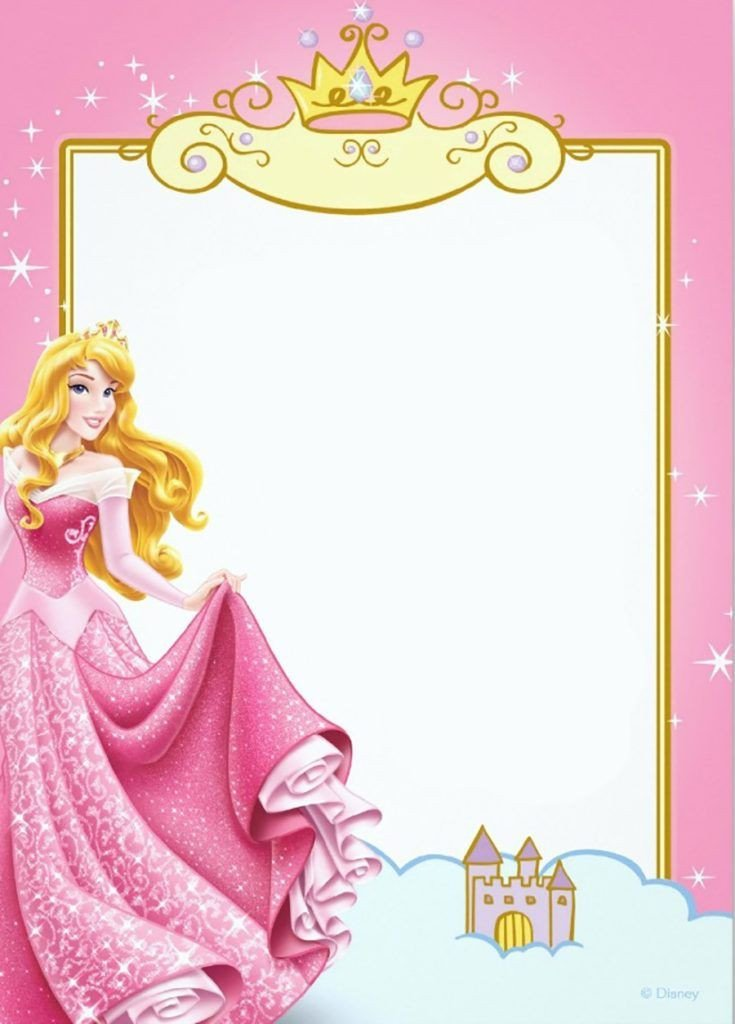 Disney Princess Invitation Template Printable Princess Invitation Card Invitatio