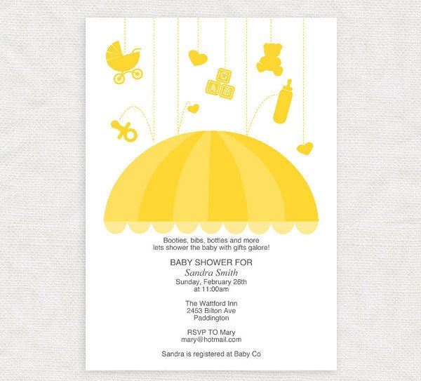 Diy Baby Shower Invitation Templates 19 Baby Shower Invitation Templates Word Psd Ai