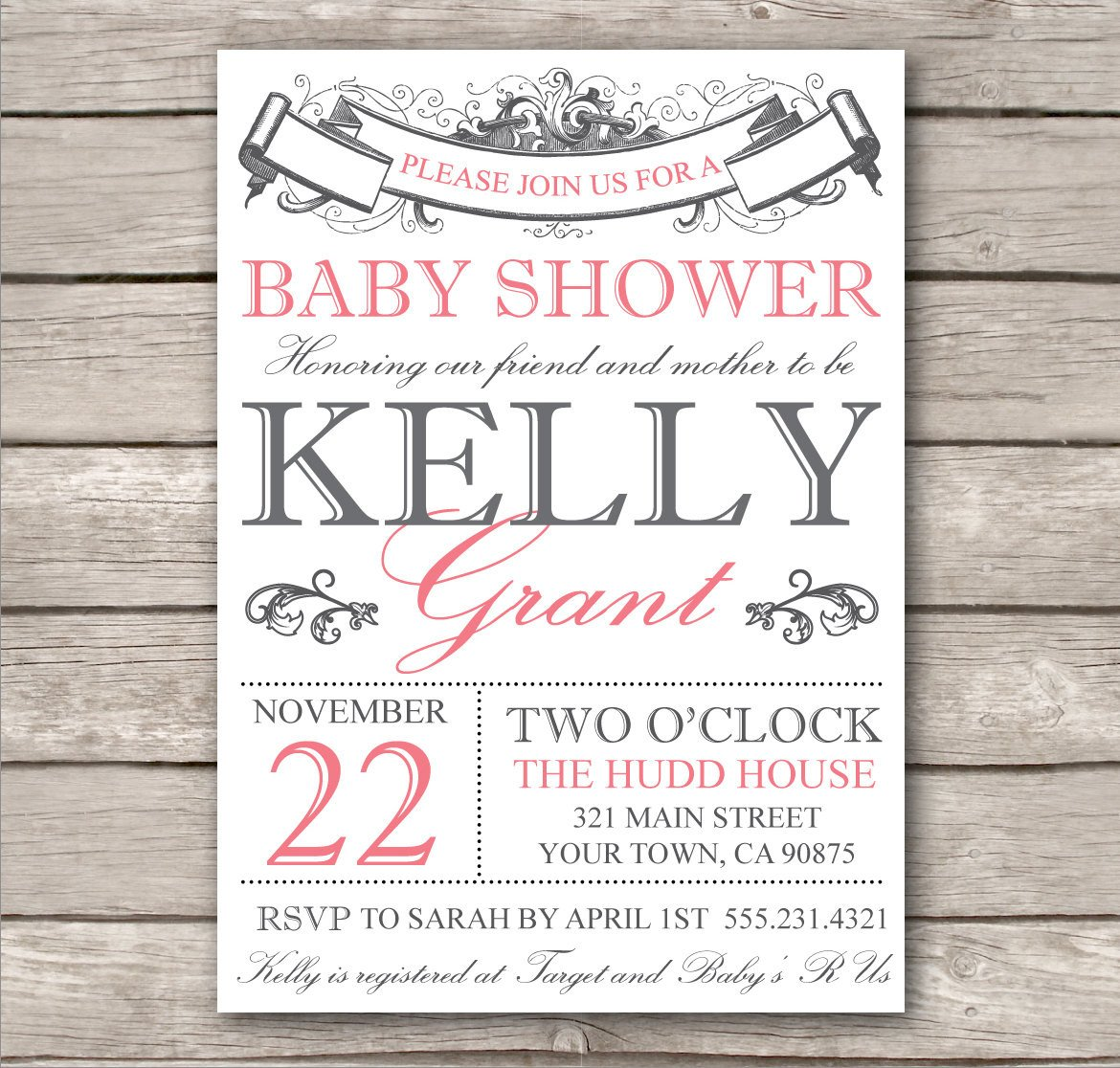 Diy Baby Shower Invitation Templates Bridal Shower Invitation or Baby Shower Invitation by