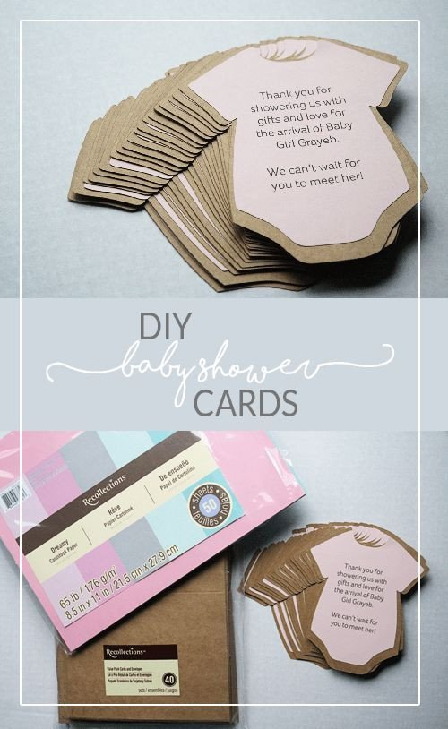 Diy Baby Shower Invitation Templates Diy Baby Shower Invitations or Thank You Cards