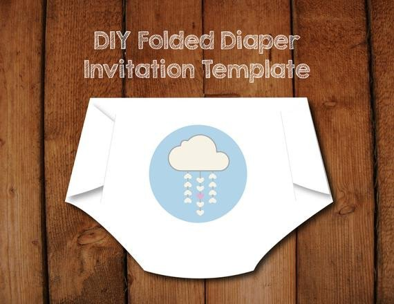 Diy Baby Shower Invitation Templates Items Similar to Diy Diaper Invitation Templates with