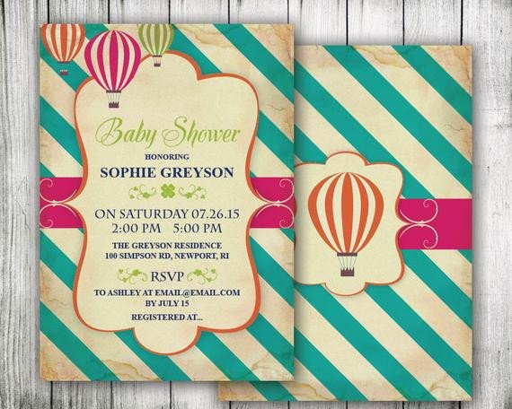 Diy Baby Shower Invitation Templates Items Similar to Diy Printable Baby Shower Invitations