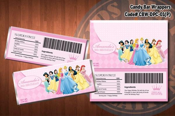 Diy Candy Bar Wrappers Disney Princess Candy Bar Wrappers Diy Printable for