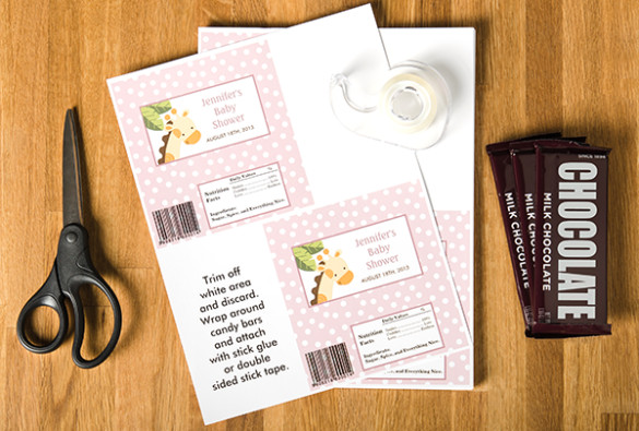 Diy Candy Bar Wrappers Diy Baby Shower Series Flyer Candy Bar Wrappers Zazzle Blog