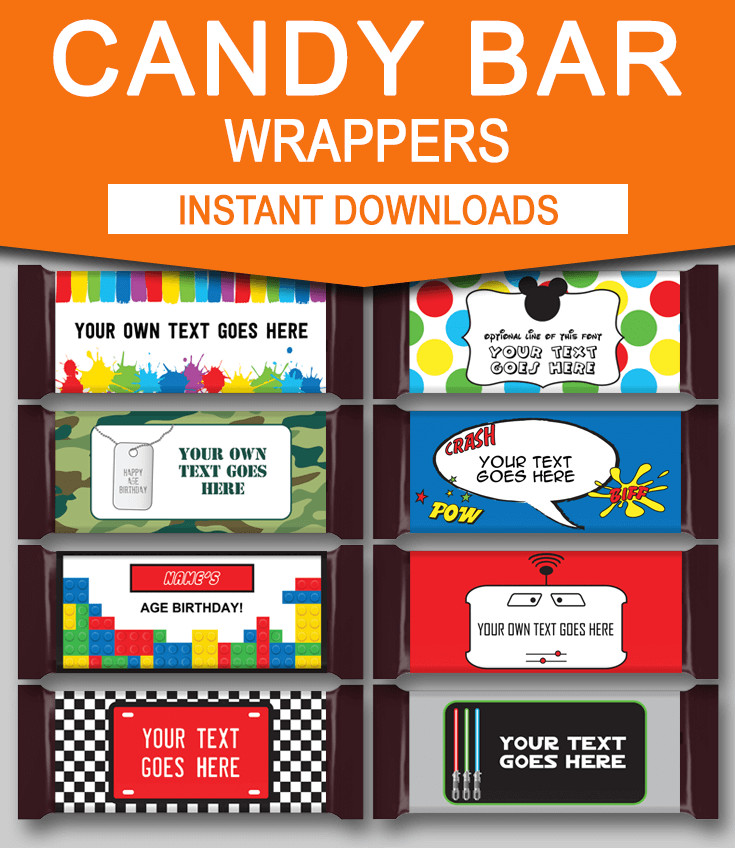 Diy Candy Bar Wrappers Diy Candy Bar Wrapper Templates Party Favors