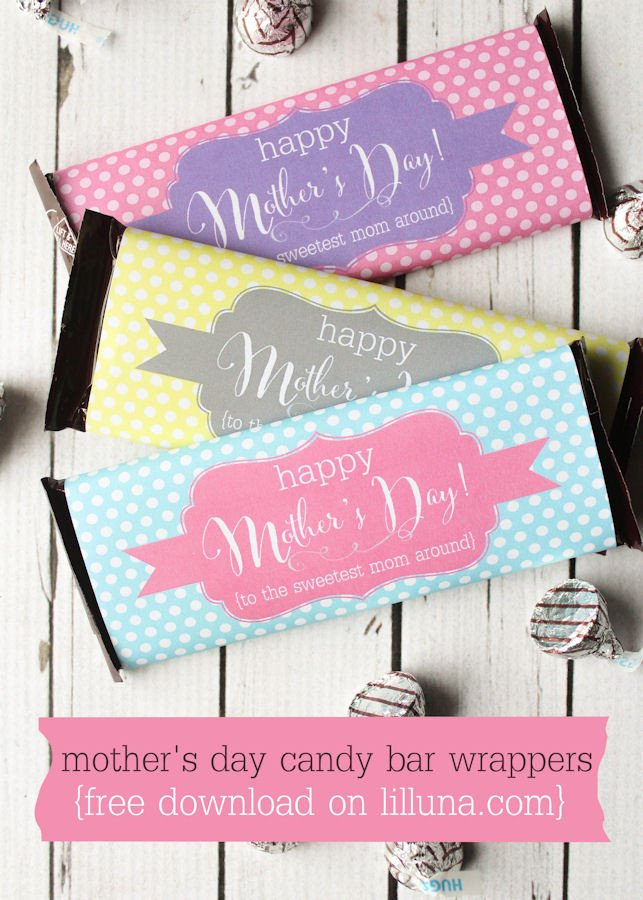 Diy Candy Bar Wrappers Diy Mother S Day Gift Ideas Crazy Little Projects
