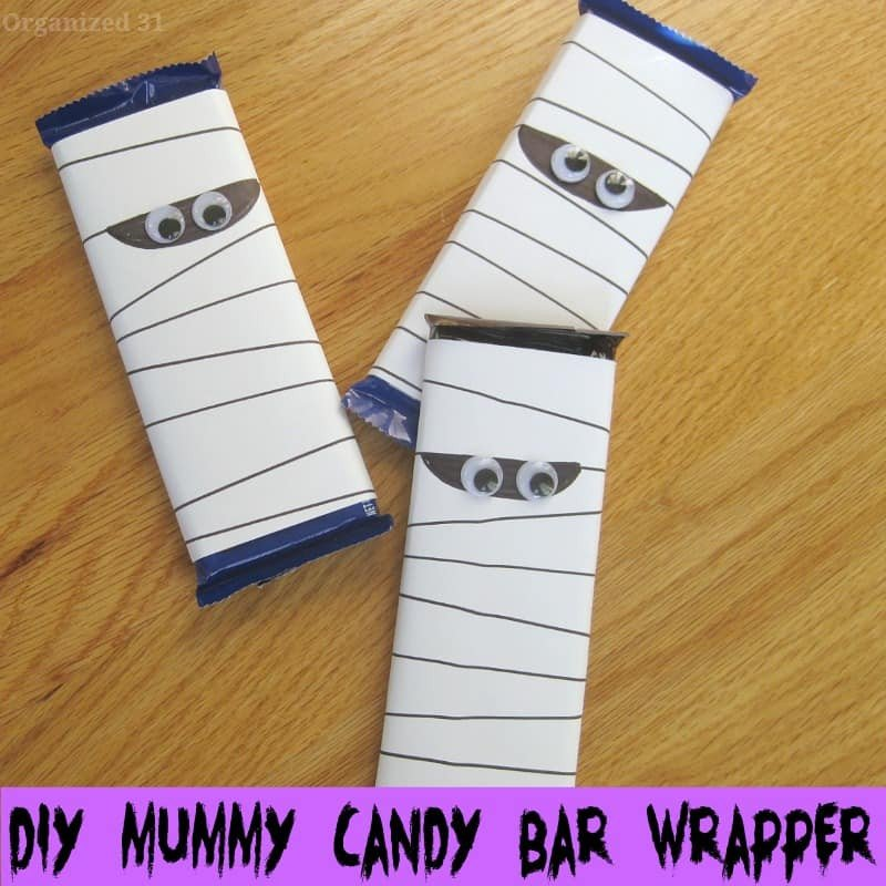 Diy Candy Bar Wrappers Diy Mummy Candy Bar Wrapper organized 31