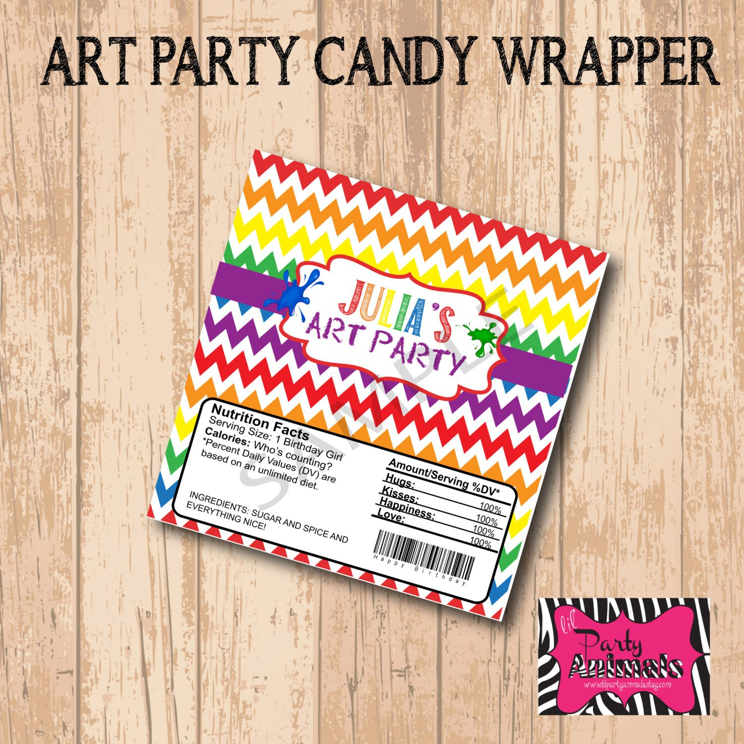 Diy Candy Bar Wrappers Diy Printable Art Candy Bar Wrapper