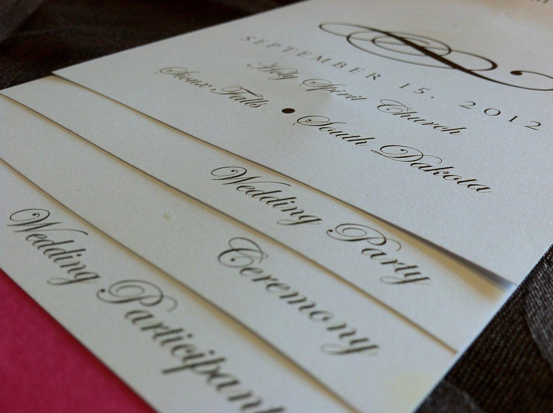 Diy Wedding Program Template Diy 4 Page Layered Wedding Program Template by