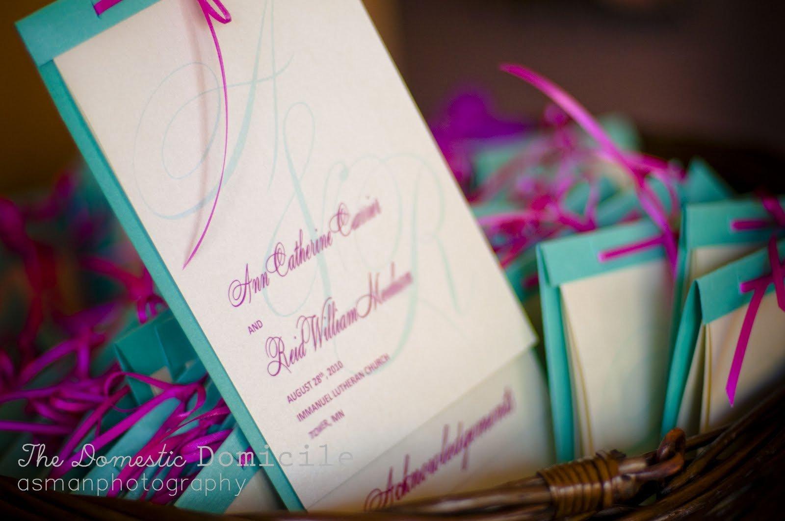Diy Wedding Program Template Diy Wedding Revisited Programs the Domestic Domicile