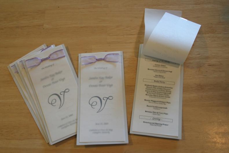 Diy Wedding Program Template Free Diy Wedding Programs and Menus