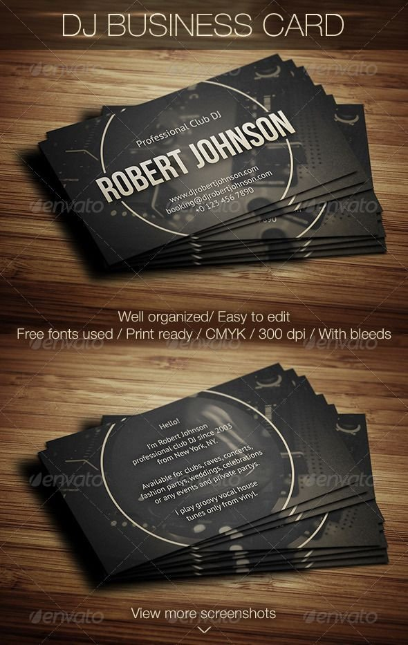 Dj Business Card Template 17 Best Images About Dj Business Cards On Pinterest