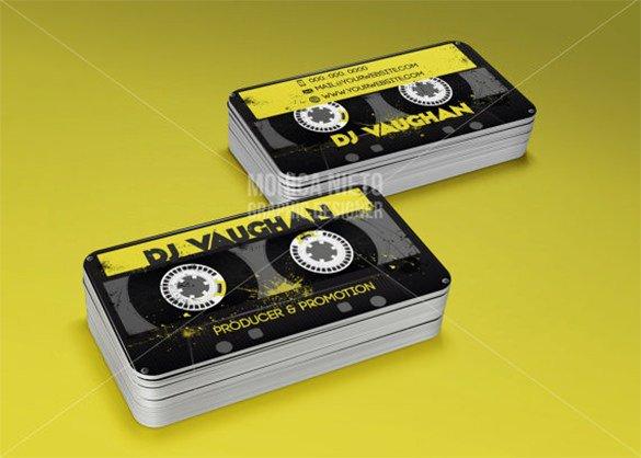 Dj Business Card Template 18 Dj Business Cards – Free Psd Eps Ai Indesign Word