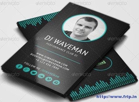 Dj Business Card Template 25 Best Dj Business Cards Print Templates