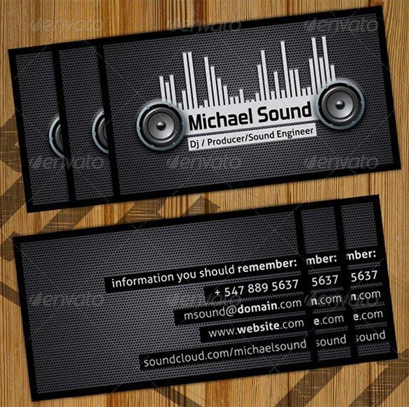 Dj Business Card Template 28 Dj Business Cards Templates Shop Ms Word