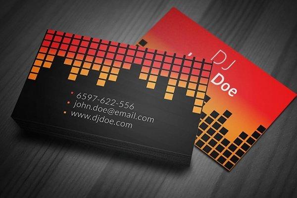 Dj Business Card Template 30 Amazing Free Business Card Psd Templates