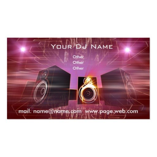 Dj Business Card Template Business Dj Double Sided Standard Business Cards Pack