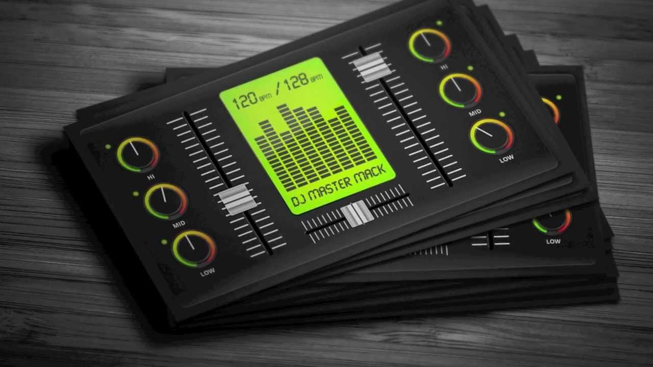 Dj Business Card Template Creative Digital Dj Business Card Template